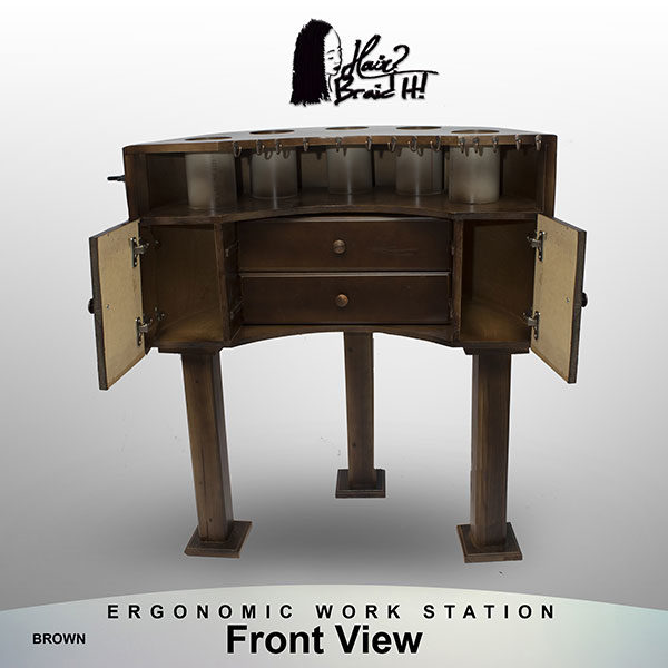 antique workstation-brown