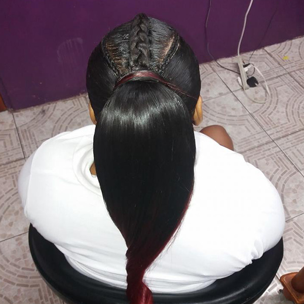 Silk Press Hair in Trinidad